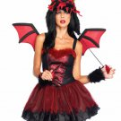 Hot Demon Dragon 4 Piece Sexy Adult Costume Rave Party Wear Leg Avenue Size- S/M