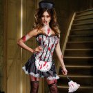"NEW Halloween Sexy French ""MAID MAYHEM"" Costume Zombie Vampire Bloody size-Small"