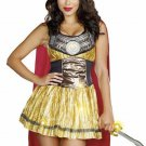 New Sexy Golden Gladiator Adult Costume - Greek and Roman Costume Size- Small
