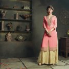 Pink Designer Embroidery Suit (Long Kurti)