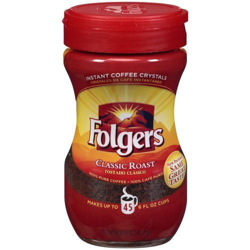 Folgers Instant Coffee Classic Roast 3oz Jar