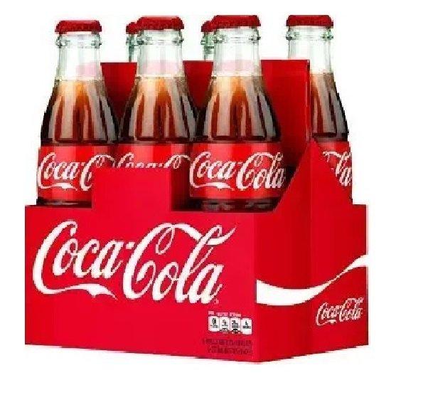 Classic Coke 6 Pack Soda Box 12oz Coke Bottles