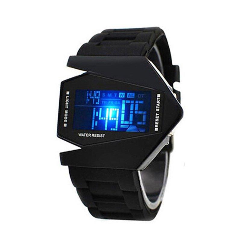 Men's Sport Fashion Black Stainless Steel Luxury Digital LED Wrist DIAL Watch