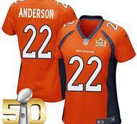 Denver Broncos Women C.J. Anderson #22 Jersey