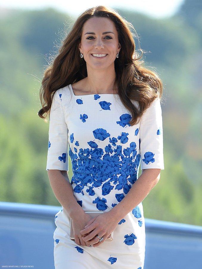Kate Middleton Snorkel Blue Floral Paisley Lasa Dress