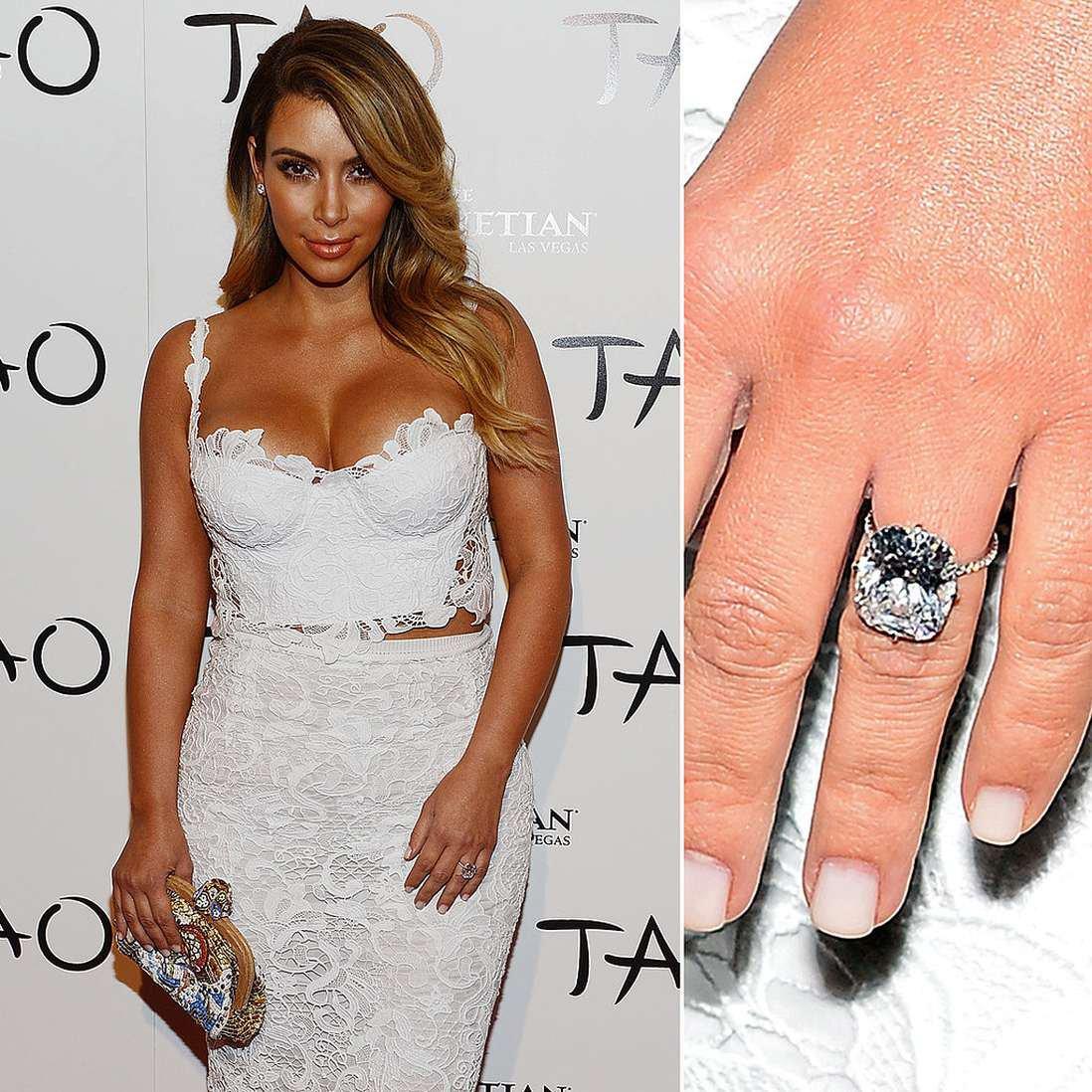 Imitation Stolen Kim Kardashian Diamond Ring
