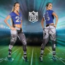 Free Shipping Woman Yoga Pants Fitness Sport Leggings Dallas Cowboys Sports Tights Fiber