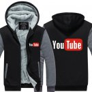 2017 Youtube Funny Logo Printed Hoodies Men Jacket Luxury Grey Black Style