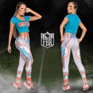 Free Shipping Woman Yoga Pants Fitness Sport 3D Leggings Miami Dolphins Sports Tights Fiber