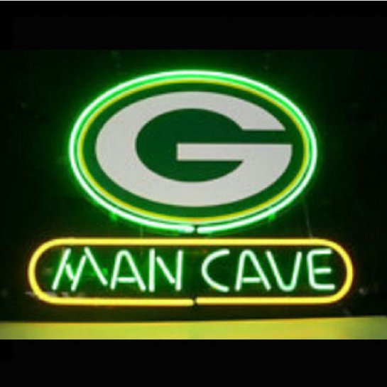 """Brand New Nfl Green Bay Packers Man Cave Beer Bar Pub Neon Light Sign 13""""x 8"""" [High Quality]"""