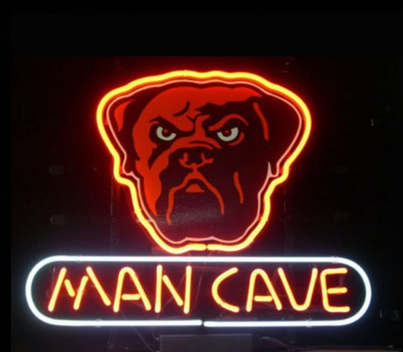 """Brand New Nfl Cleveland Browns Dog Man Cave Beer Bar Pub Neon Light Sign 13""""x 8"""" [High Quality]"""
