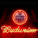 "Brand New NHL Edmonton Oilers Budweiser Beer Bar Pub Neon Light Sign 13""x 8"" [High Quality]"