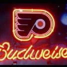"Brand New NHL Philadelphia Flyers Budweiser Beer Bar Pub Neon Light Sign 13""x 8"" [High Quality]"