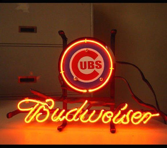 "Brand New MLB Chicago Cubs Budweiser Beer Bar Pub Neon Light Sign 13""x 8"" [High Quality]"