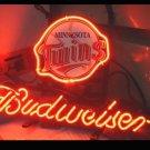 "Brand New MLB Minnesota Twins Budweiser Beer Bar Pub Neon Light Sign 13""x 8"" [High Quality]"