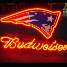 "Brand New NFL New England Patriots Budweiser Beer Bar Pub Neon Light Sign 13""x 8"" [High Quality]"