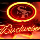 "Brand New NFL San Francisco 49ers Budweiser Beer Bar Pub Neon Light Sign 13""x 8"" [High Quality]"