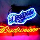 "Brand New MLB Los Angeles Dodgers Budweiser Beer Bar Pub Neon Light Sign 13""x 8"" [High Quality]"