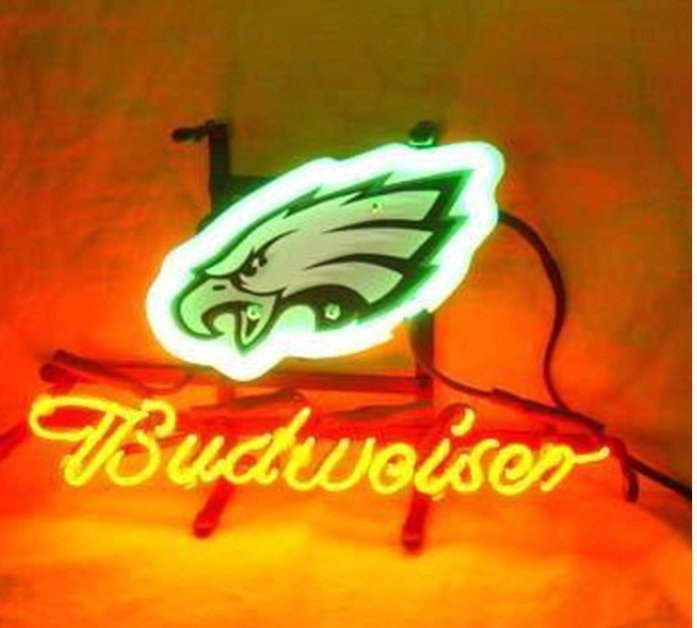 Brand New NFL Philadelphia Eagles Budweiser Beer Bar Pub