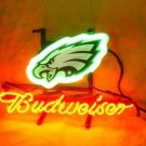 "Brand New NFL Philadelphia Eagles Budweiser Beer Bar Pub Neon Light Sign 13""x 8"" [High Quality]"