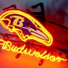 "Brand New NFL Baltimore Ravens Budweiser Beer Bar Pub Neon Light Sign 13""x 8"" [High Quality]"
