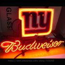 "Brand New NFL New York Giants Budweiser Beer Bar Pub Neon Light Sign 13""x 8"" [High Quality]"