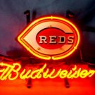"Brand New MLB Cincinnati Reds Budweiser Beer Bar Pub Neon Light Sign 13""x 8"" [High Quality]"