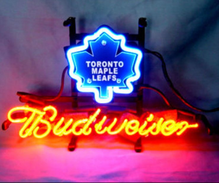 "Brand New NHL Toronto Maple Leafs Budweiser Beer Bar Pub Neon Light Sign 13""x 8"" [High Quality]"