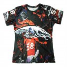 3D Printed T-Shirts Broncos Von Miller Homme Short Sleeve O-Neck Tshirt