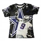 T-shirts No.9 Dallas Tony Romo 3D Printed T-shirts Character Tees Short Sleeve T shirt Men style 1