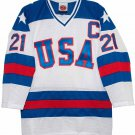 1980 Mike Eruzione Olympic USA MIRACLE Hockey K1 Jersey New WHITE Any Size RARE
