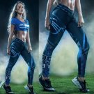 Free Shipping Woman Yoga Pants Sport Leggings Carolina Panthers Sports Tights Fiber Sport