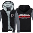 Jacket 2017 Atlanta Falcons NFL Luxury Hoodies Super Warm Thicken Fleece Men's Coat US Grey Black