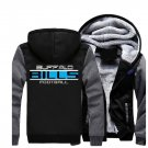 Jacket 2017 Buffalo Bills NFL Luxury Hoodies Super Warm Thicken Fleece Men's Coat US Grey Black