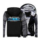 Jacket 2018 Buffalo Bills NFL Luxury Hoodies Super Warm Thicken Fleece Men's Coat US Grey Black
