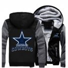 Jacket 2017 Dallas Cowboys NFL Luxury Hoodies Super Warm Thicken Fleece Men's Coat US Grey Black