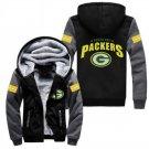Jacket 2017  Green Bay Packers NFL Luxury Hoodies Super Warm Thicken Fleece Men's Coat US Grey Black