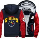 Men Jacket 2017  Pittsburgh Steelers NFL Luxury Blue Red Style ver2