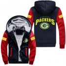 Men Jacket 2017  Green Bay Packers NFL Luxury Blue Red Style ver2