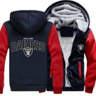 Men Jacket 2017  Oakland Raiders NFL Luxury Blue Red Style ver2