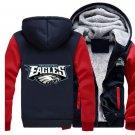 Men Jacket 2017 Philadelphia Eagles NFL Luxury Blue Red Style ver1