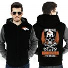 Men Jacket NEW 2017 Denver Broncos NFL Fan Luxury Grey Black Style ver1