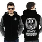 Men Jacket NEW 2017 Oakland Raiders NFL Fan Luxury Grey Black Style ver1