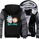 Men Jacket NEW 2017 Rick and Morty Adult Swim Animated Series Fan Luxury Grey Black Style ver2