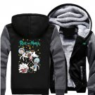 Men Jacket NEW 2017 Rick and Morty Adult Swim Animated Series Fan Luxury Grey Black Style ver3