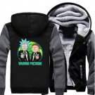Men Jacket NEW 2017 Rick and Morty Adult Swim Animated Series Fan Luxury Grey Black Style ver5