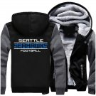 Men Jacket 2017 Seattle Seahawks NFL Luxury Grey Black Style ver1