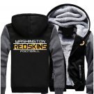 NEW Jacket Washington Redskins NFL Luxury Hoodies Super Warm Thicken Fleece Men's Coat US Grey Black