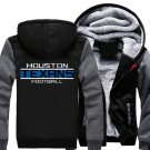 Jacket 2017 Houston Texans NFL Luxury Hoodies Super Warm Thicken Fleece Men's Coat US Grey Black