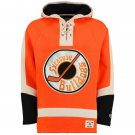Syracuse Bulldogs NHL Old Time Hockey Mens Old Lacer Heavyweight Sweatshirts Orange